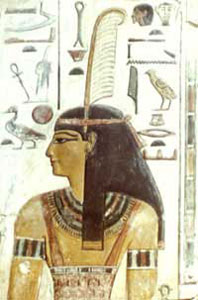 Ma'at was the ancient Egyptian Goddess of Justice. Her name represents truth, justice, law and order. Picture from: http://www.ancientegyptonline.co.uk/maat.html